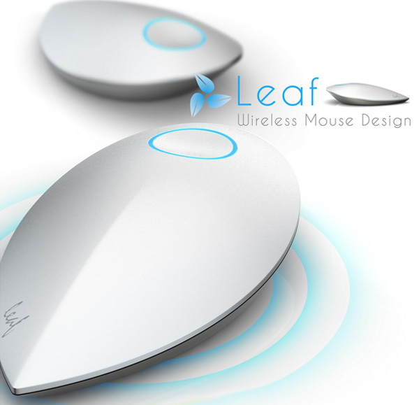 Leaf Wireless Kinetic Mouse by Lu Hairong and Zhang Xuehui » Yanko Design